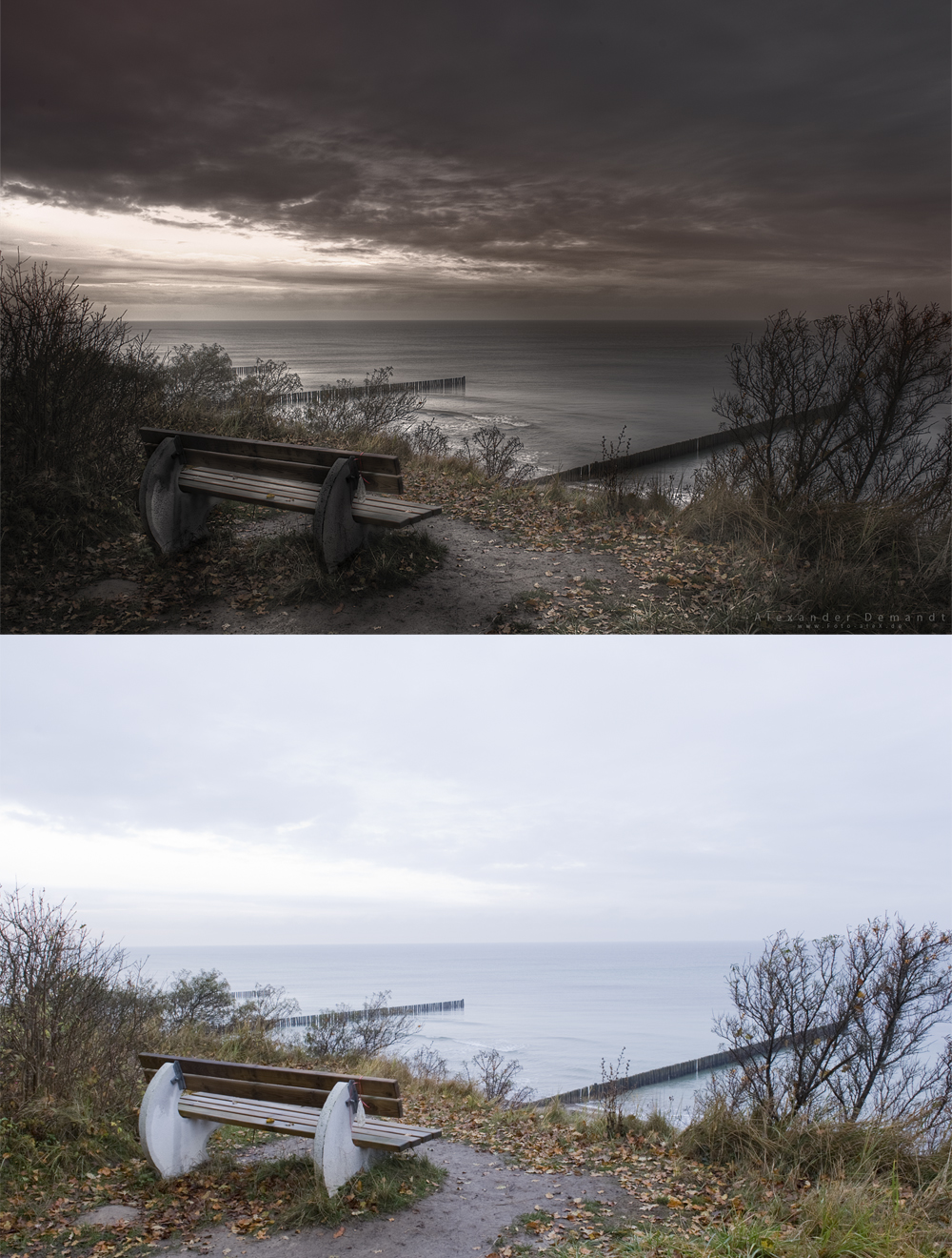 Landschaftsfotograf - Bildbearbeitung - Vergleich