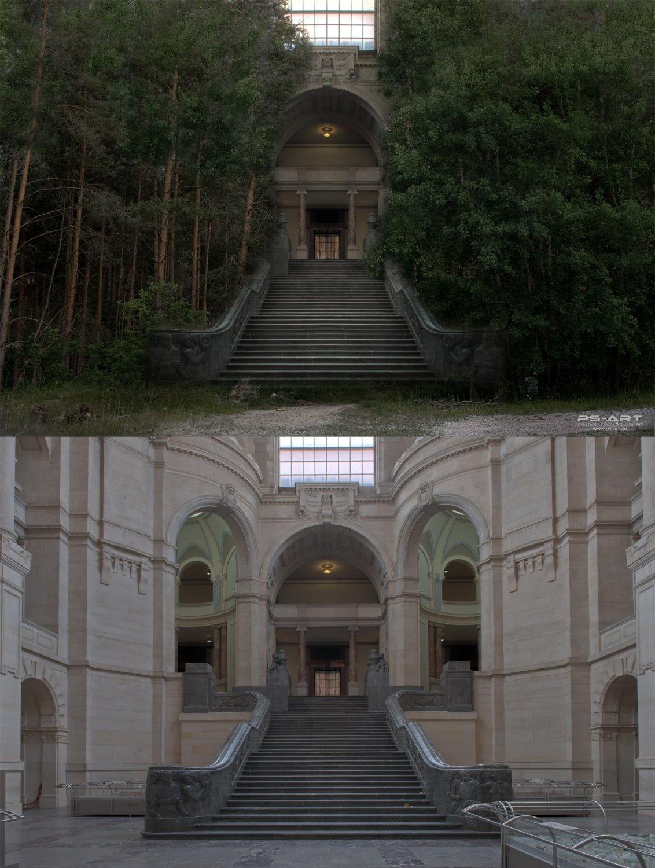 Fotomontage-Vergleich-Photoshop-TRathaus-Hannover